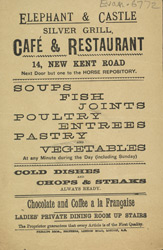 Advert for the Silver Grill Restaurant